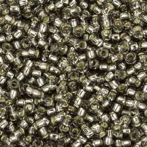 Бисер Toho 15-0 Внутреннее серебрение серый