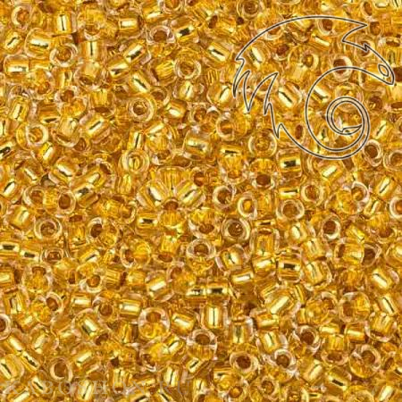 Бисер Toho Окрашенный изнутри хрусталь/золотое покрытие 24К