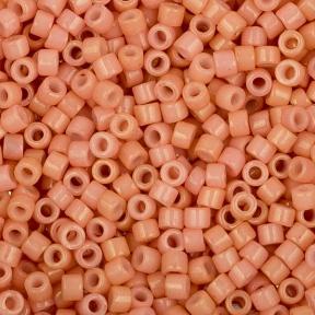 Бисер Toho Treasures Радужный непрозрачный персиково-розовый