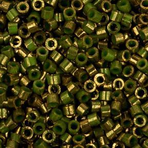 Бисер Toho Treasures Позолоченный 24К мраморный зеленый