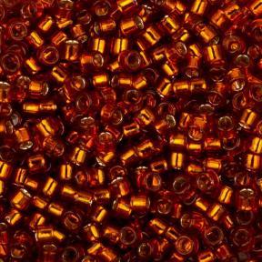 Бисер Toho Treasures Внутреннее серебрение жженый рыжий