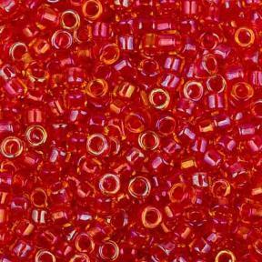Бисер Toho Treasures Окраш. изнутри радужный топаз/красно-лиловый