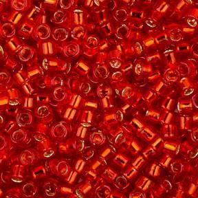 Бисер Toho Treasures Внутреннее серебрение сиамский рубин
