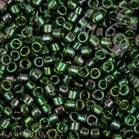 Бисер Toho Treasures Золотое сияние зеленый изумруд