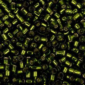 Бисер Toho Treasures Внутреннее серебрение оливковый