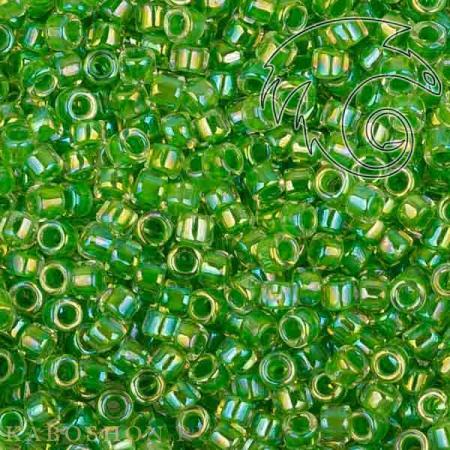 Бисер Toho Treasures Окраш. изнутри радуж.хрусталь/травянисто-зеленый