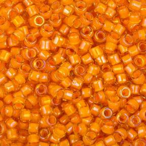 Бисер Toho Treasures Окрашенный изнутри желтый/апельсин