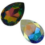 4327 Pear fancy stones
