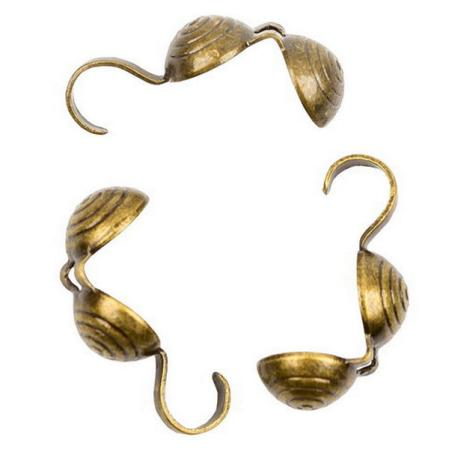 Каллоты 5 мм старинная бронза (10 шт)