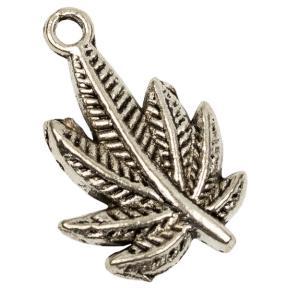Лист пальмовый 23 мм старинное серебро