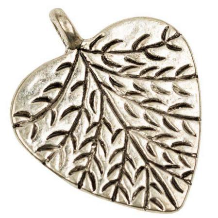 Лист 24 мм старинное серебро