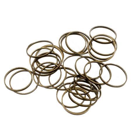 Колечки 12 мм старинная бронза