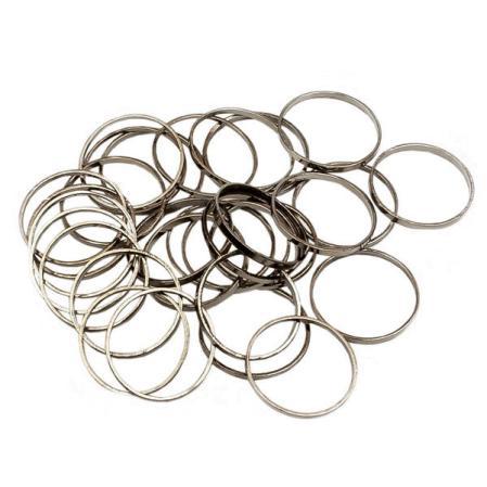 Колечки 12 мм черный никель никель