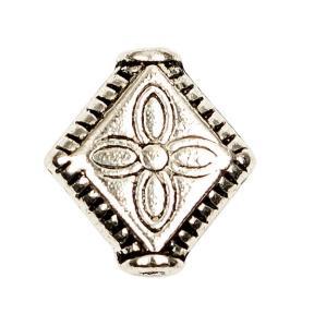 Бусина 10х3 мм старинное серебро
