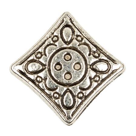 Бусина 12х4 мм старинное серебро