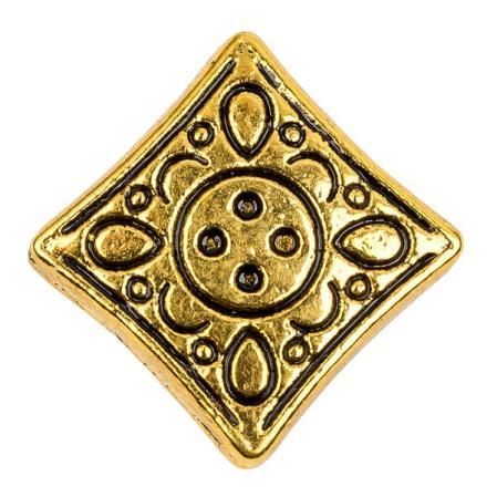 Бусина 12х4 мм старинное золото