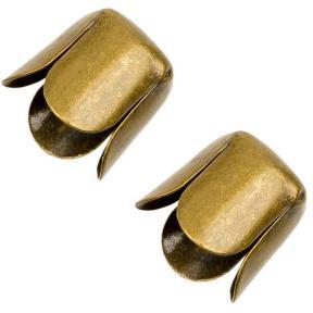 Колпачок концевой 7х7 мм старинная бронза (1 пара)