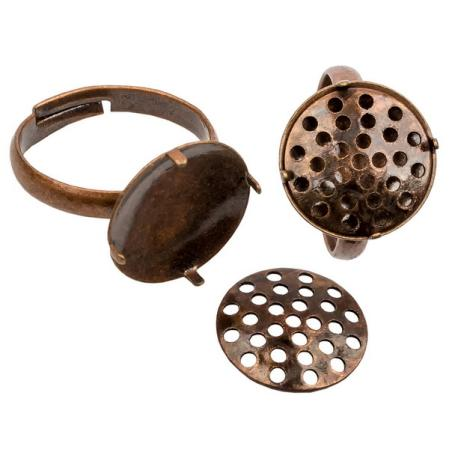Основа для кольца 14 мм старинная медь