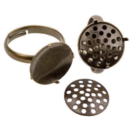 Основа для кольца 14 мм старинная бронза