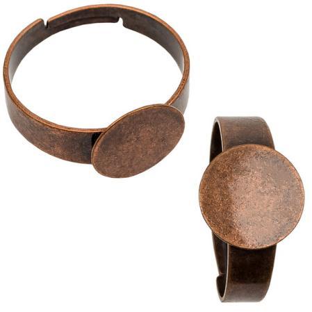 Основа для кольца 10 мм старинная медь