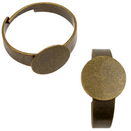 Основа для кольца 10 мм старинная бронза