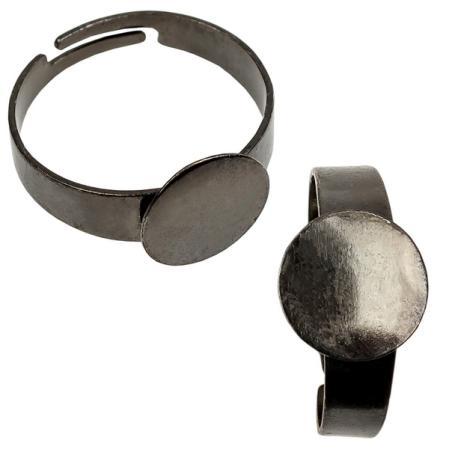 Основа для кольца 10 мм черный никель