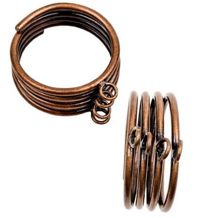 Основа для кольца с 4 петельками старинная медь