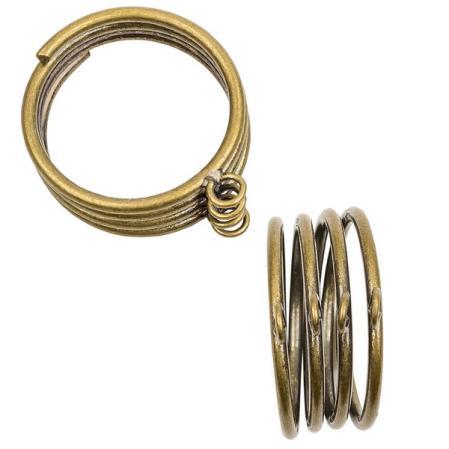 Основа для кольца с 4 петельками старинная бронза