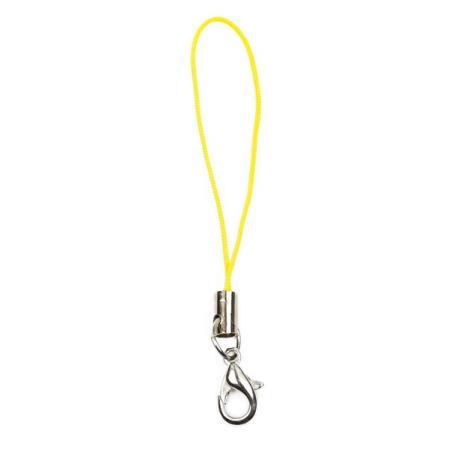 Шнурок для мобильного телефона желтый 1 шт