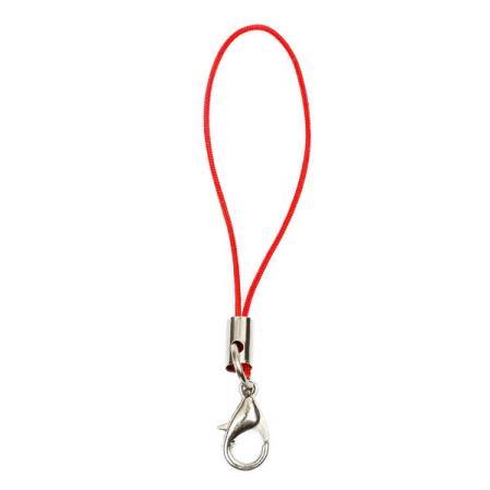 Шнурок для мобильного телефона красный 1 шт