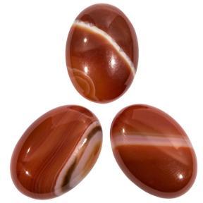Сердолик красно-рыжий овальный 25х18 мм