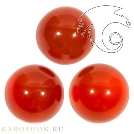 Сердолик красный круглый 6 мм 505206