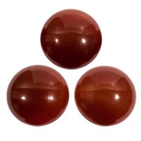 Сердолик красный круглый 25 мм