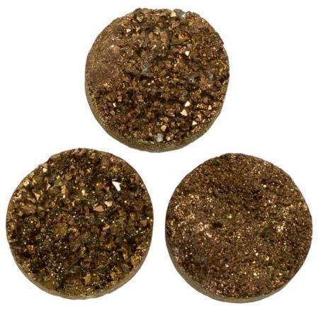 Кварц Titanium круглый 20 мм (щетка) бронза