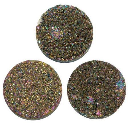 Кварц Titanium круглый 25 мм (щетка) темная радуга
