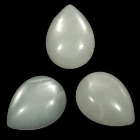 Лунный камень капля 20х15 мм