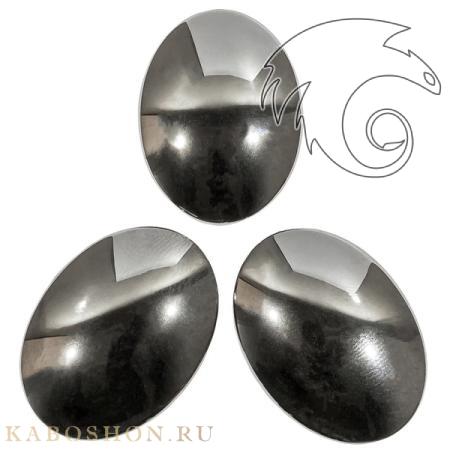 Гематит искусственный (гематин) овальный 40х30 мм