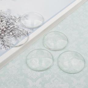 Кабошон стеклянный круглый 40 мм (уценка)