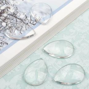 Кабошон стеклянный капля 25х18 мм