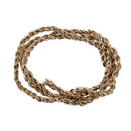Шнур из металлизированных нитей 6 сложений розовое золото