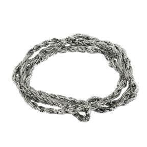 Шнур из металлизированных нитей 8 сложений серебро