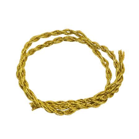 Шнур из металлизированных нитей 6 сложений золото