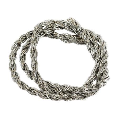 Шнур из металлизированных нитей 12 сложений серебро