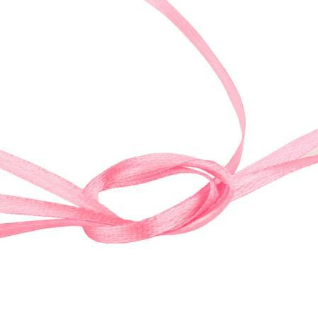 Лента атласная 3 мм ярко-розовая (10 м)