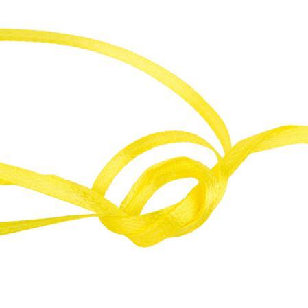 Лента атласная 3 мм желтая (10 м)