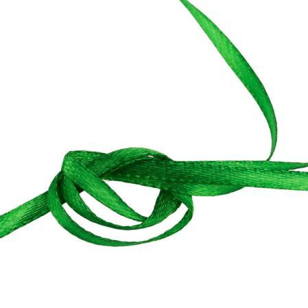 Лента атласная 3 мм темно-зеленая (10 м)