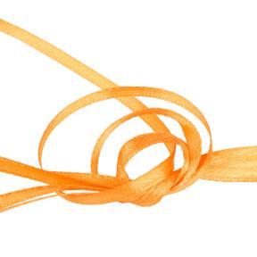 Лента атласная 3 мм оранжевая (10 м)