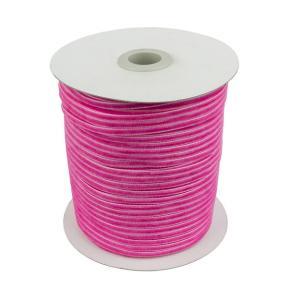 Лента бархатная 3 мм ярко-розовая (200 м)