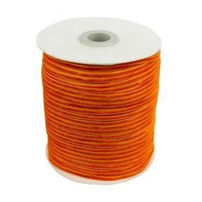 Лента бархатная 3 мм оранжевая (200 м)