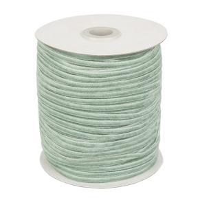 Лента бархатная 3 мм бледно-зеленая (200 м)